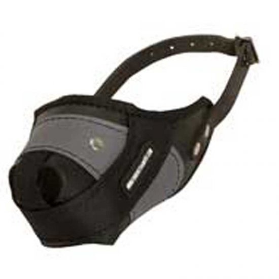 Protection Training American Bulldog Muzzle Made of Nylon and Leather