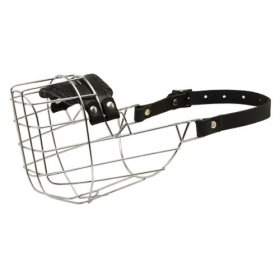 Wire Cage American Bulldog Muzzle With One Strap