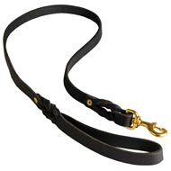 Walking Training Leather American Bulldog Leash Braided