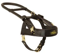 Guide and Assistance Leather American Bulldog Harness