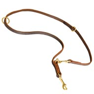Multipurpose Leather American Bulldog Leash for Training, Walking and Patrolling