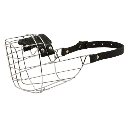 'The Silencer' Wire Cage American Bulldog Muzzle With One Strap