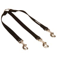 Triple Nylon American Bulldog Leash Coupler for Walking 3 Dogs at a Time