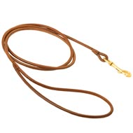 Round Leather American Bulldog Leash for Dog Shows
