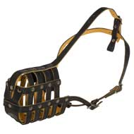 Royal Nappa Leather Basket American Bulldog Muzzle