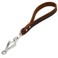 Short Leather American Bulldog Leash with or without Support Material