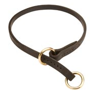 American Bulldog Leather Choke Collar Effective Training