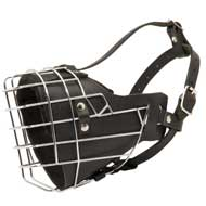 Leather Padded Wire Cage American Bulldog Muzzle for Agitation Training