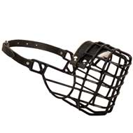Frost-Resistant Wire Cage American Bulldog Muzzle with One Adjustable Strap