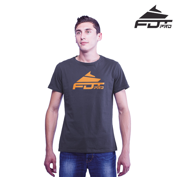 Best Quality Cotton FDT Professional Men T-shirt Dark Grey