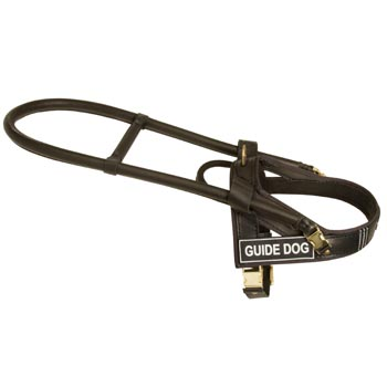 American Bulldog Guid Harness Leather for Dog Assistance