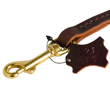 Rustproof Snap Hook for leather American Bulldog Leash