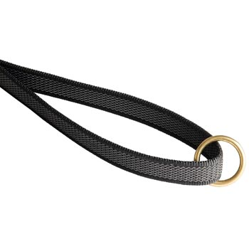 American Bulldog Nylon Leash with Brass O-ring on Handle