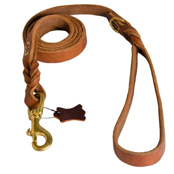 Leather Leash for American Bulldog Successful Schutzhund Training
